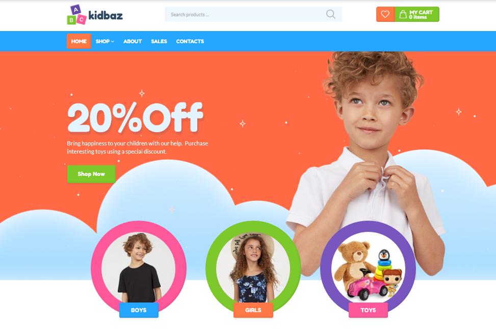 Motyw do WooCommerce - KidBaz sklep dziecięcy