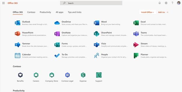 Automatyczne przypinanie aplikacji Office 365