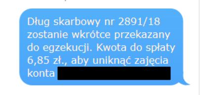 Fałszywy SMS z ZUS
