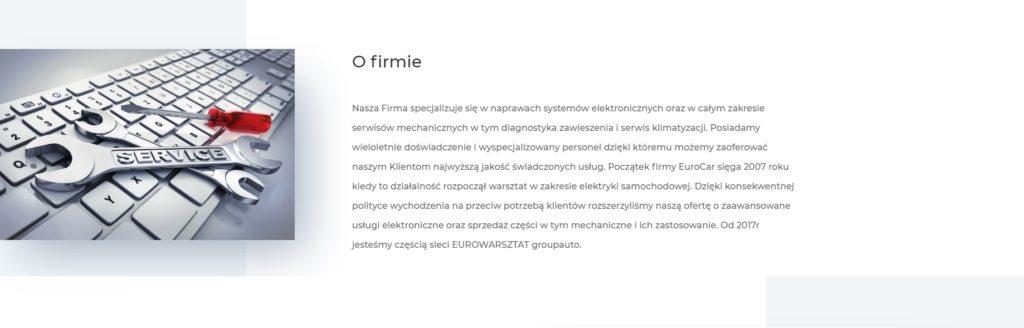 budowa strony WWW dla warsztatu samochodowego