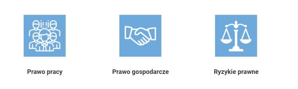 Ikony branżowe - strona WWW dla kancelarii prawnej