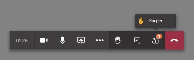Microsoft Teams jak podnieść rękę w spotkaniu?