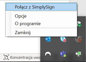 Połączenie z Simply Sign - odnawianie podpisu elektronicznego.