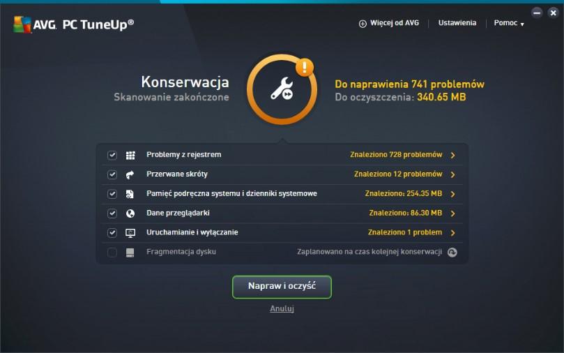 Przyśpieszanie komputera za pomocą AVG PC TuneUp