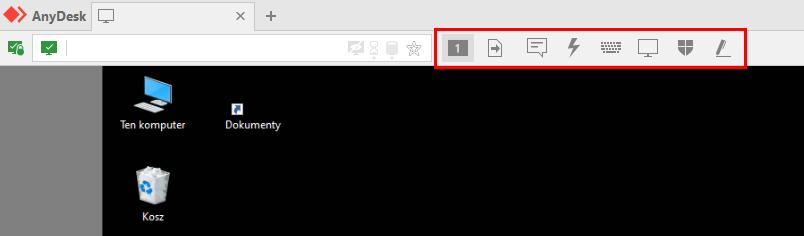 Połączenie w AnyDesk ze zdalnym komputerem