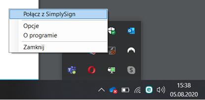 Połącz się z SimplySign Desktop aby rozpocząć podpisywanie dokumentów na komputerze