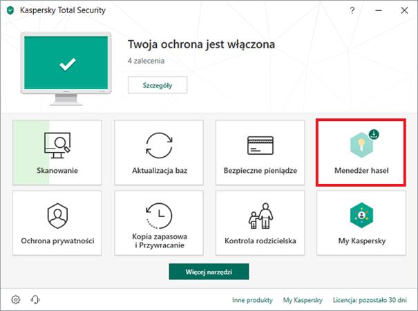 Menadżer haseł w aplikacji antywirusowej