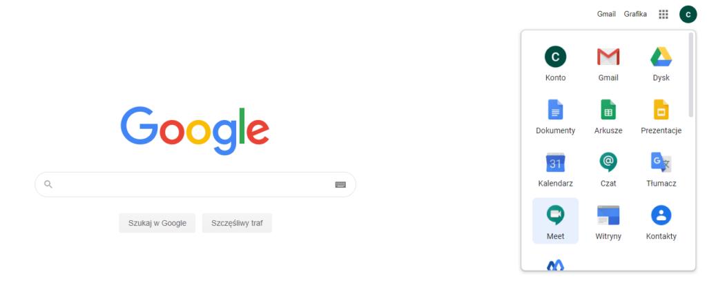 Darmowy Google Meet dla Gmail