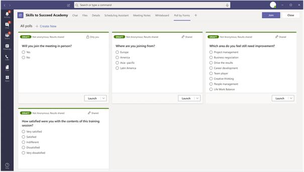 Microsoft Teams  - ankiety w spotkaniach