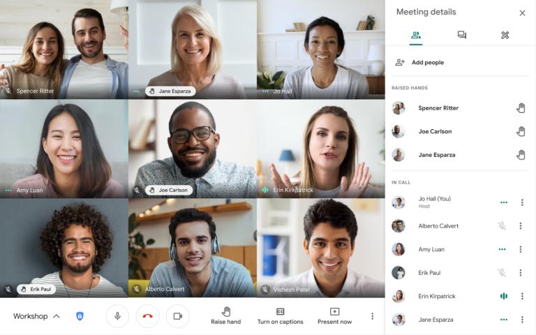 Chcesz zabrać głos podczas wideokonferencji w Google Meet? Skorzystaj z nowej funkcji podniesionej ręki