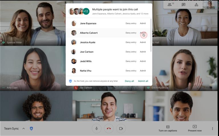 Jak zaakceptować wszystkich uczestników Google Meet (Google Workspace) jednym kliknięciem?