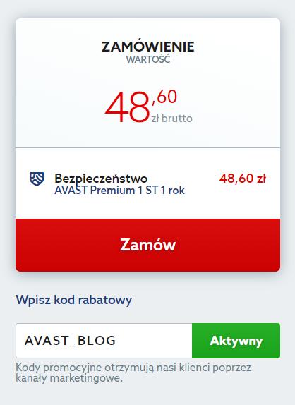 rabat na antywirus Avast