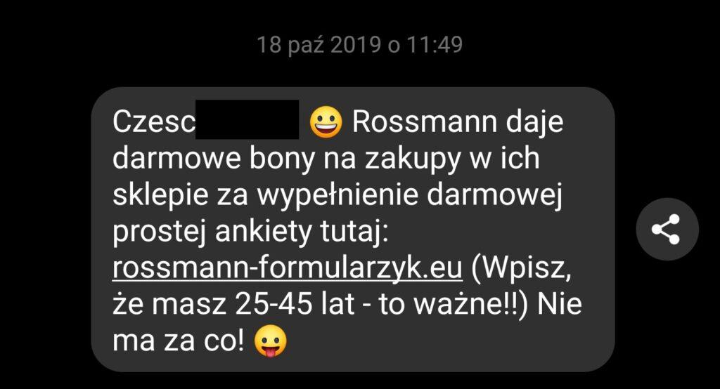 Wirus na Messengerze - przykład wiadomości.