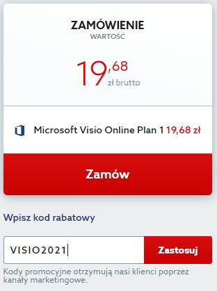 Kod rabatowy na Microsoft Visio. Wpisz kod zniżkowy i korzystaj z narzędzia Microsoft taniej.