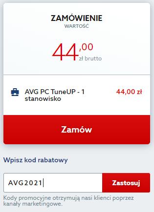 Kod rabatowy na AVG PC Tuneup. Skorzystaj z zniżki i przyspiesz swój komputer taniej.