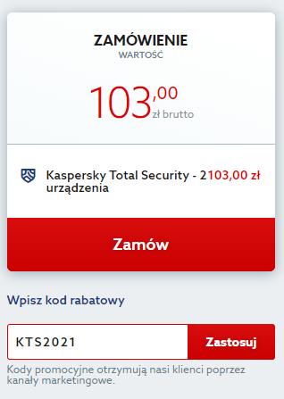 kod rabatowy na antywirus Kaspersky Total