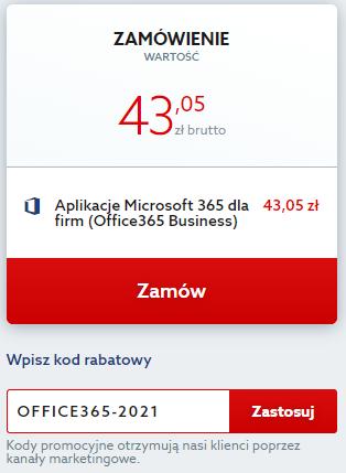 Kod rabatowy na Microsoft 365 (dawniej Office 365). Odbierz zniżkę i korzystaj z narzędzi od Microsoft taniej.