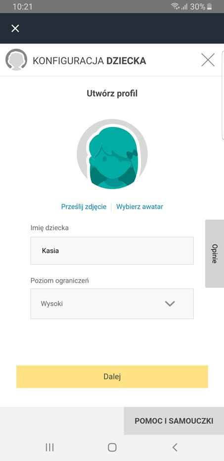 Kontrola rodzicielska w aplikacji antywirusowej