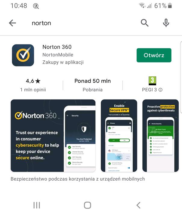 Antywirus na smartfona - Norton 360 w sklepie Google Play