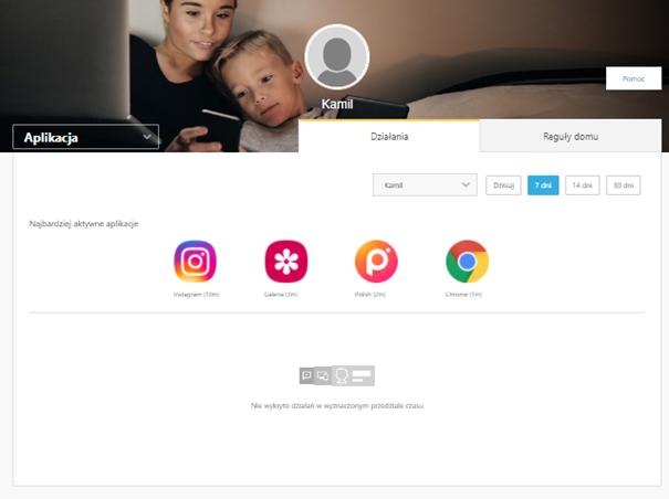 Lista aplikacji w kontroli rodzicielskiej Norton 360