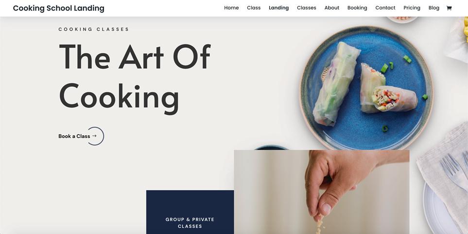 Motyw WordPress do DIVI dla kursów gastronomicznych