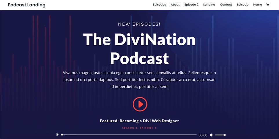 Motyw WordPress do DIVI dla podcastów