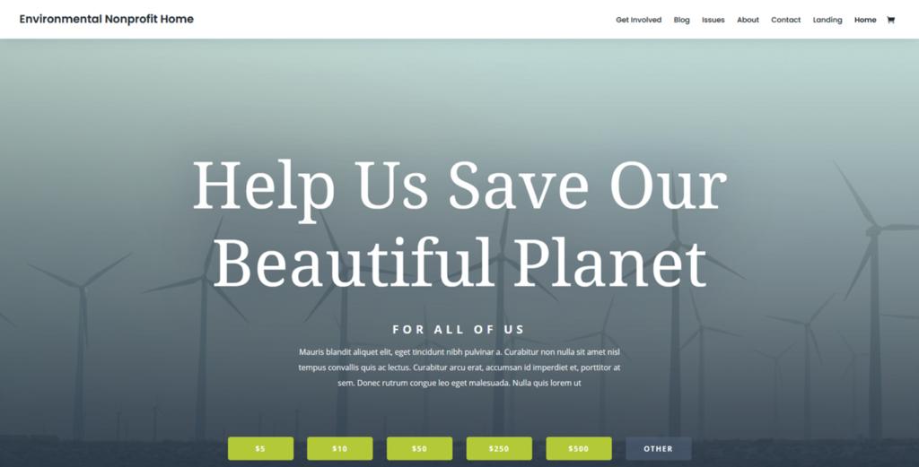 Motyw ekeologiczny do WordPressa w DIVI