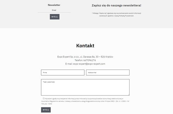 Formularz kontaktowy na prostej stronie internetowej