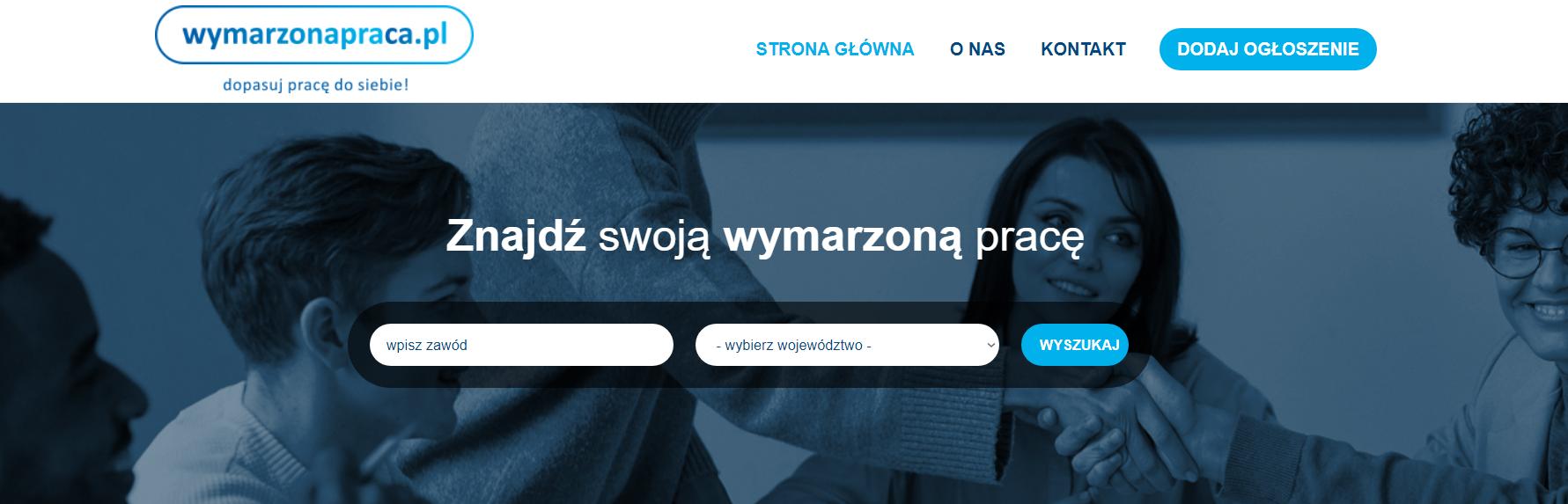 Strona internetowa z ofertami pracy