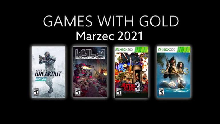 Games With Gold w marcu 2021. Darmowe gry Xbox Live Gold