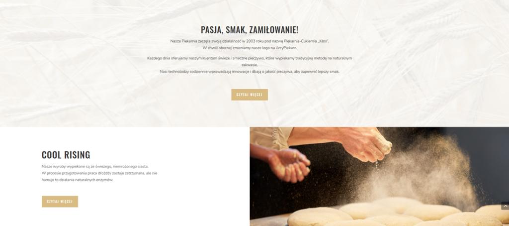 Opis produktów na stronie internetowej