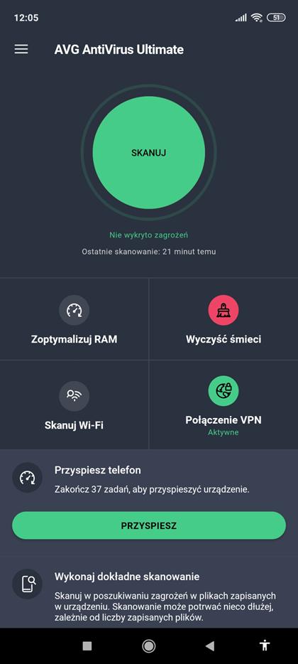 Aplikacja mobilna AVG AntiVirus Ultimate