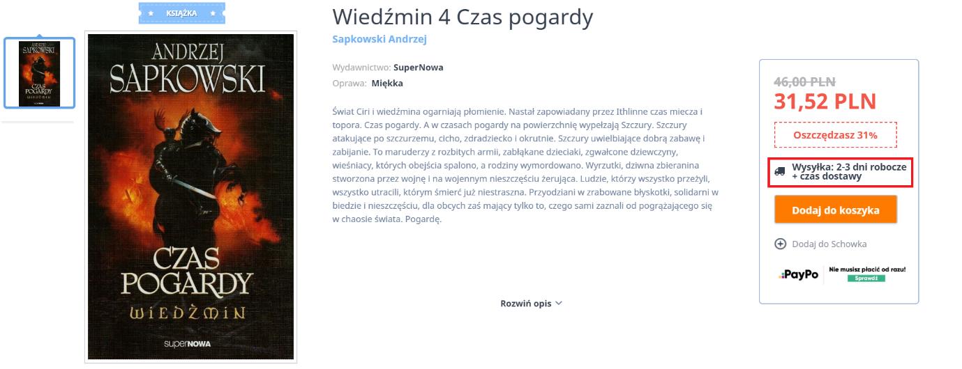 Wiedźmin: Czas Pogardy (Andrzej Sapkowski)