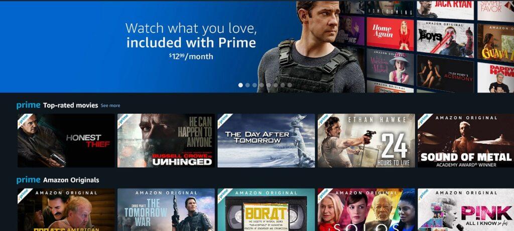 Filmy dostępne na Amazon Prime Video