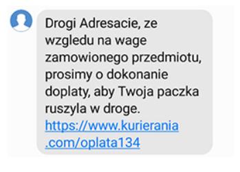 Phishingowy SMS