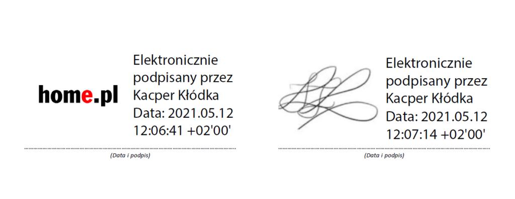 Graficzny element w podpisie elektronicznym SimplySign