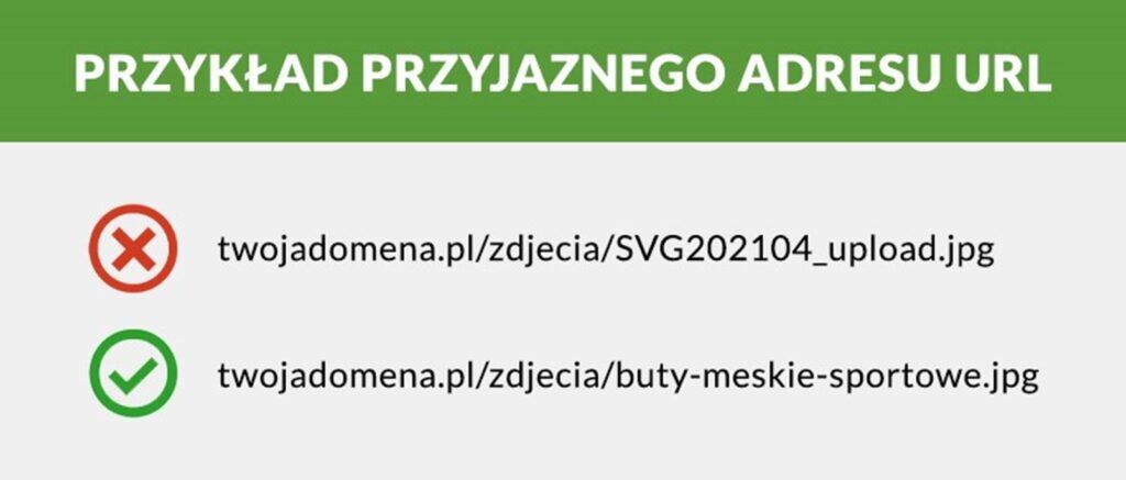 Przykład przyjaznego adresu URL dla optymalizacji zdjęć pod SEO