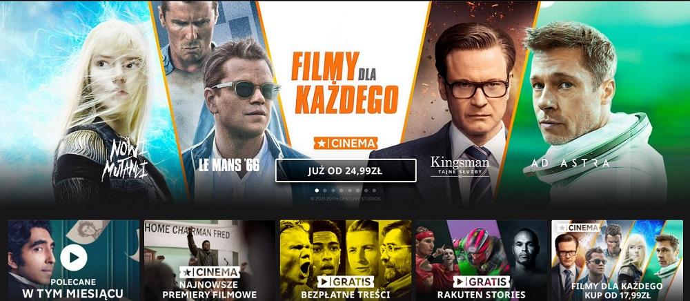 Filmy i seriale online na Rakuten TV