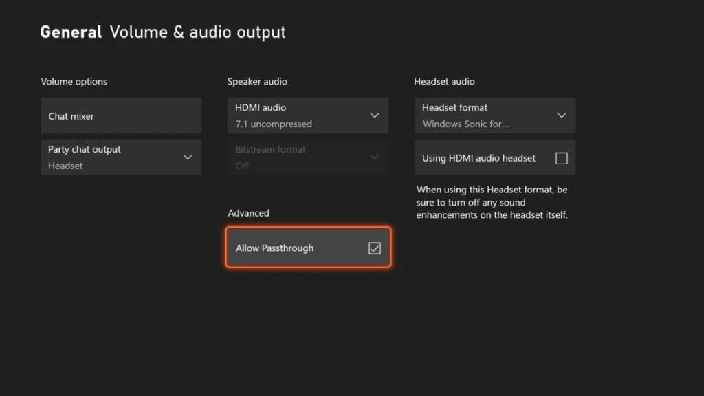 lepsza jakość audio na Xbox Passthrough