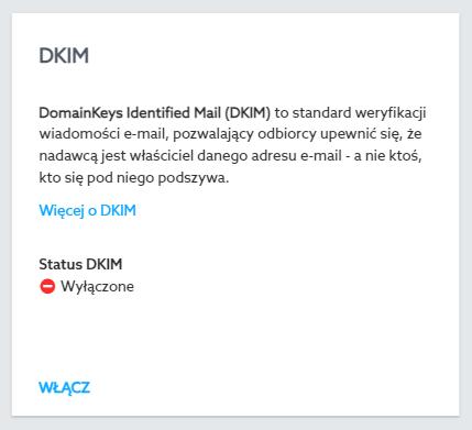 DKIM w home.pl - aktywacja