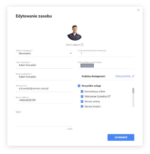 System rezerwacji online w komunikatorze Zoom