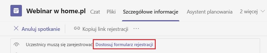 Jak zmienić formularz rejestracji