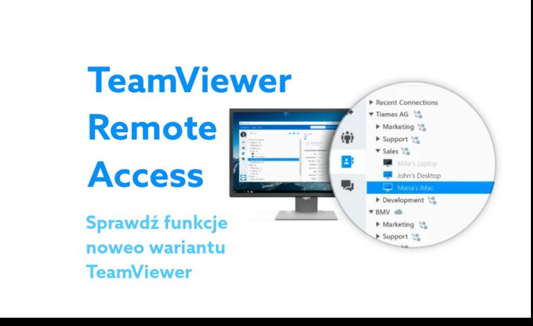 TeamViewer Remote Access – podstawowy wariant programu do zdalnej obsługi komputera już dostępny w home.pl