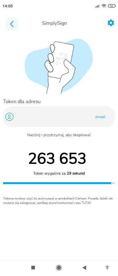 Kod OTP SimplySign