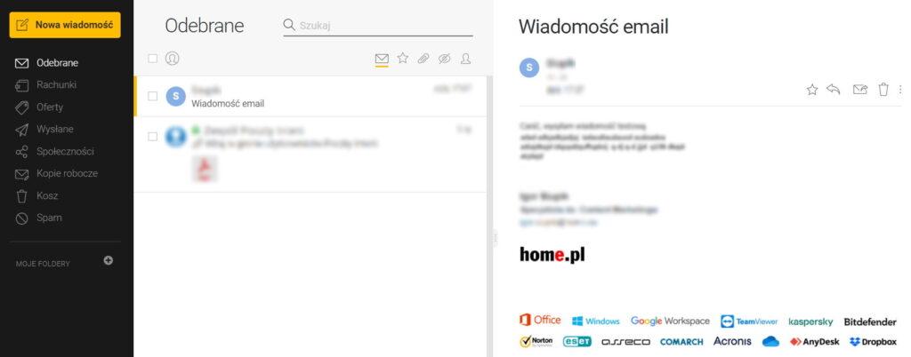 Skrzynka pocztowa Interia.pl