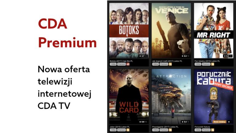 CDA Premium z nową funkcją telewizji internetowej – CDA TV!