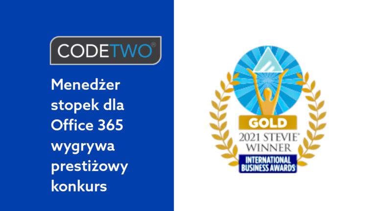 CodeTwo stopki email do Office 365 docenione w 18. edycji International Business Awards