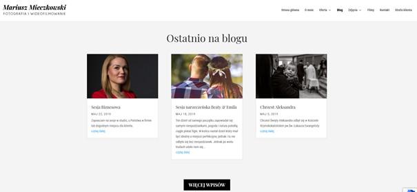 Aktualności na stronie www fotografa