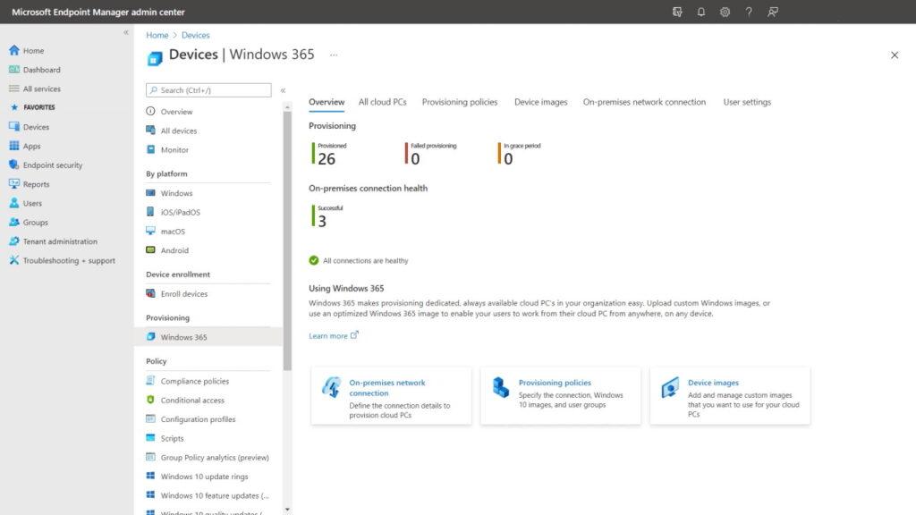 Zarządzanie komputerami Windows 365