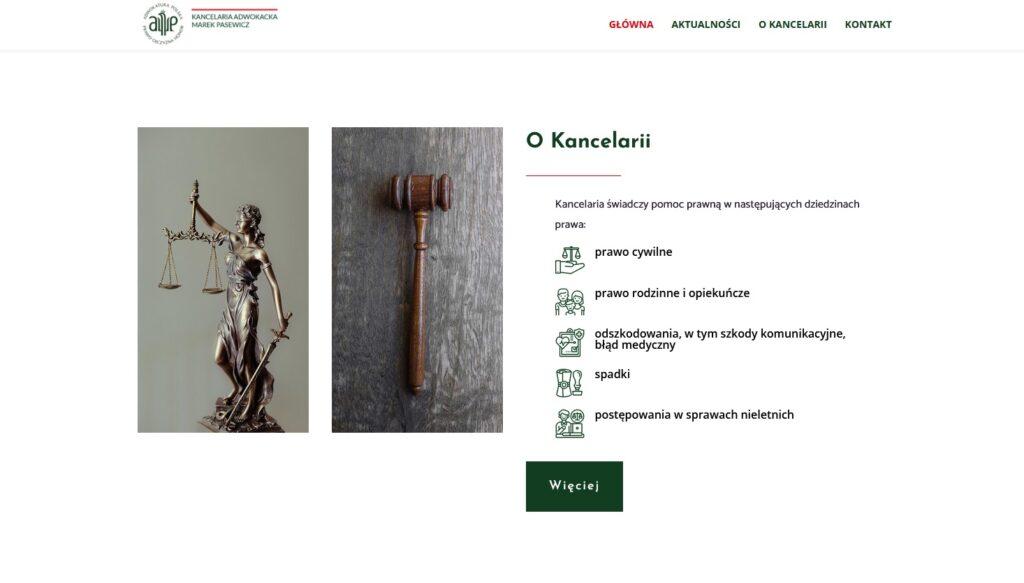 Usługi adwokacie kancelarii na stronie głównej